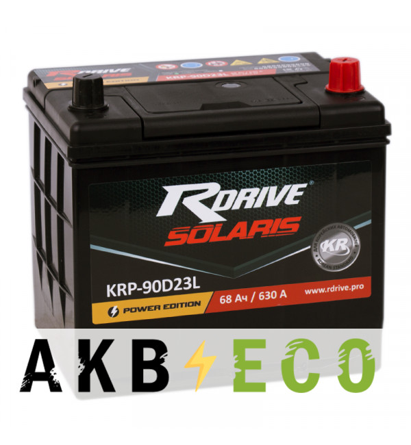 Автомобильный аккумулятор R-Drive 90D23L (68R 630А 232x173x225)