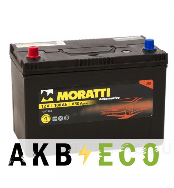 Автомобильный аккумулятор Moratti Asia 100L 850А 301x175x220 D31R