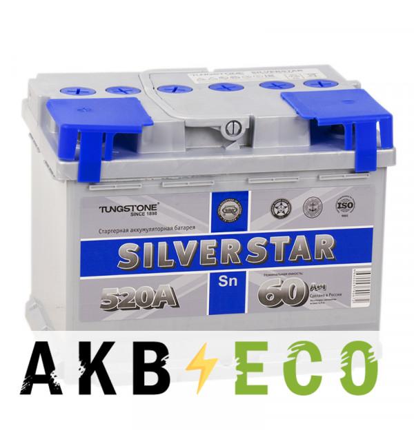 Автомобильный аккумулятор Silverstar 60L 520A 242x175x190