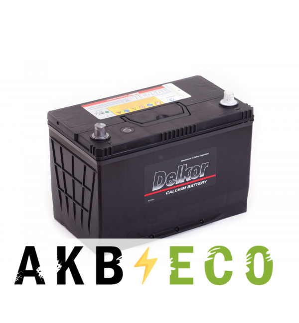 Автомобильный аккумулятор Delkor 105D31R (90L 750A 306x173x225)