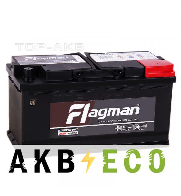 Автомобильный аккумулятор Flagman AGM 95R 850A 353x175x190 Start-Stop