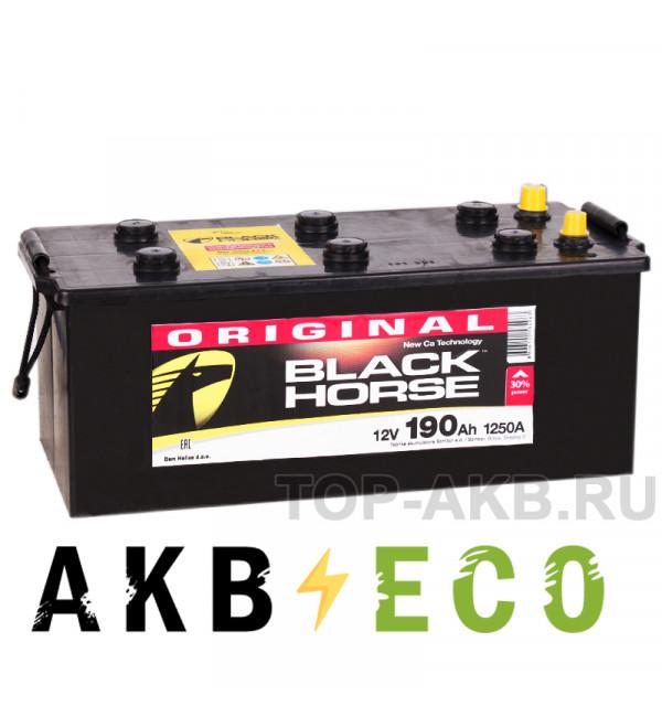 Автомобильный аккумулятор Black Horse 190 евро 1250A 513х223х223