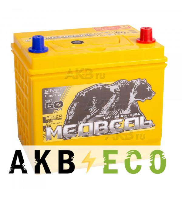 Автомобильный аккумулятор Тюменский медведь Сa/Сa 65D23L 60 Ач обр. пол. 530A (230x170x225) Silver ASIA