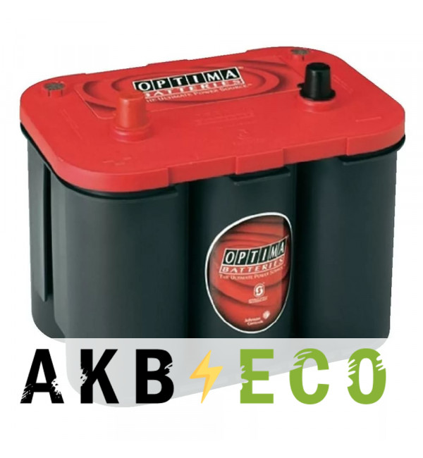 Автомобильный аккумулятор OPTIMA Red Top 50 Ач 815А (244x172x200) RT S 4.2 - 802250000