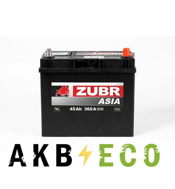 Автомобильный аккумулятор ZUBR 45R уз.кл. 360A (238x129x227) 545155033