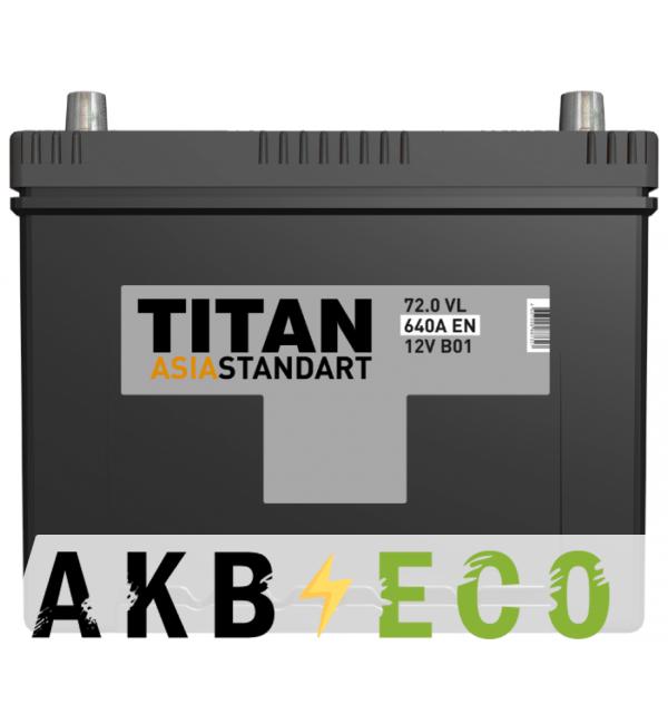 Автомобильный аккумулятор Titan Asia Standart 72R (640А 260x173x225)