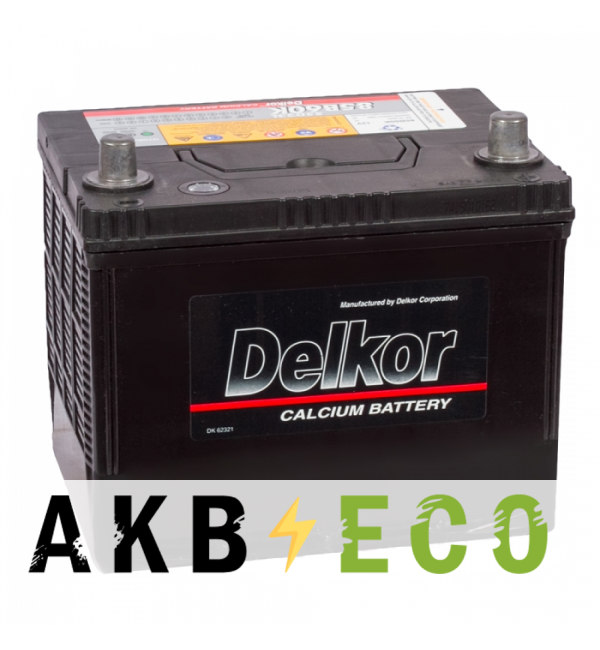 Автомобильный аккумулятор Delkor 55D23L (60R 550A 229x172x204)