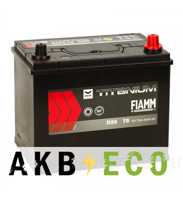 Автомобильный аккумулятор Fiamm Asia 75R 640A 261x173x225
