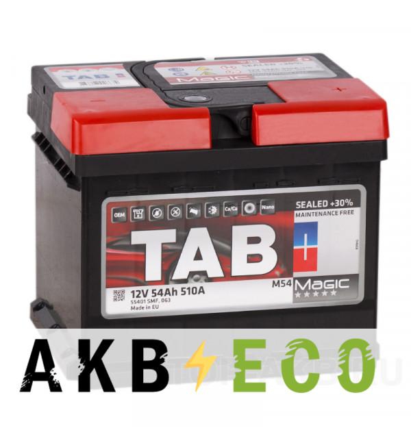 Автомобильный аккумулятор Tab Magic 54R (510A 207x175x175) 189054 55401
