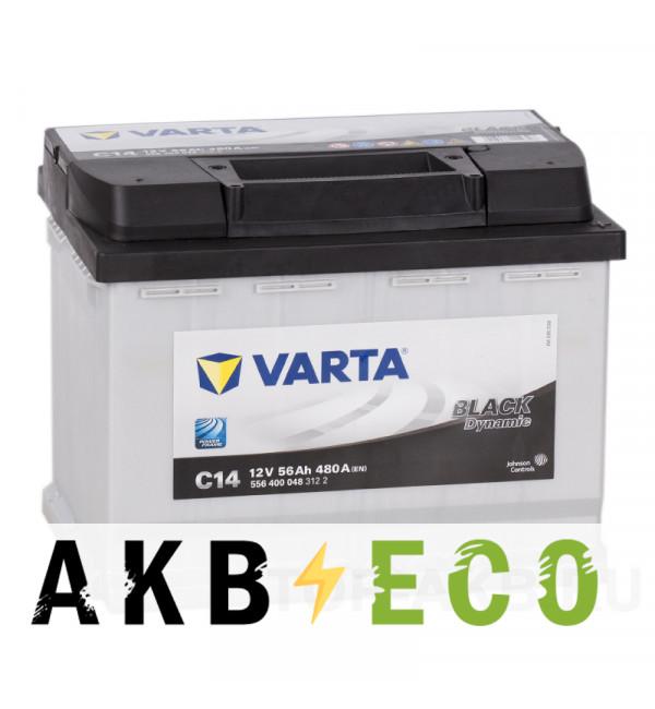 Автомобильный аккумулятор Varta Black Dynamic C14 56R 480A 242x175x190