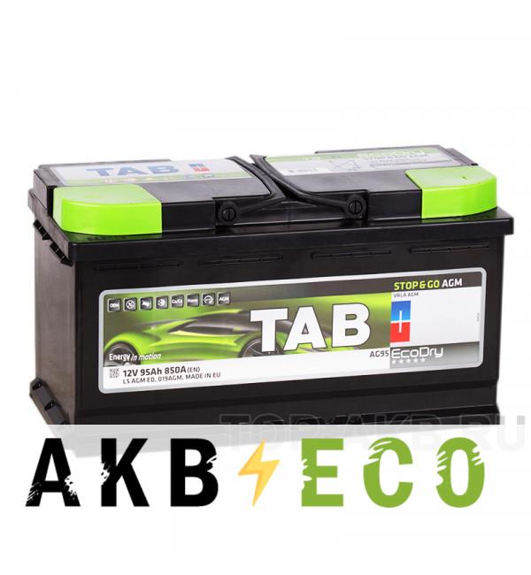 Автомобильный аккумулятор Tab AGM Stop-n-Go 95R (850A 353x175x190) 213090