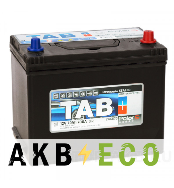 Автомобильный аккумулятор Tab Polar S 70R (700А 261x175x220) D26 обр. 246870 57029