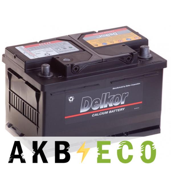 Автомобильный аккумулятор Delkor 57539 (75R 650A 279x175x175)