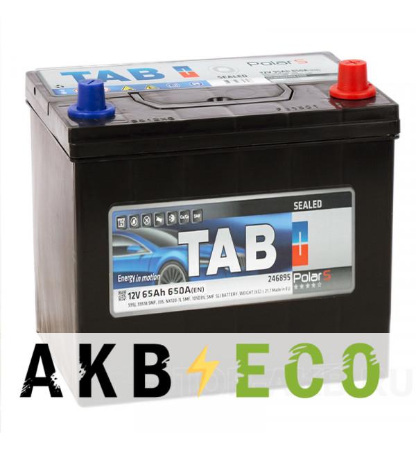 Автомобильный аккумулятор Tab Polar S 65R (650А 232x173x225) D23 обр. 246865 56568
