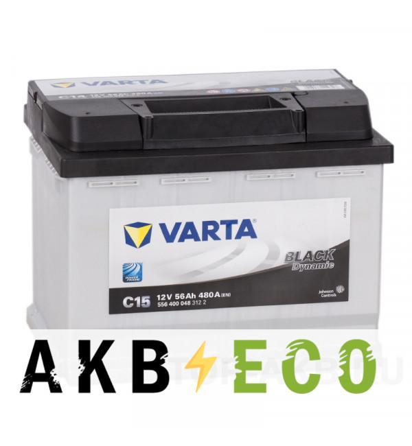 Автомобильный аккумулятор Varta Black Dynamic C15 56L 480A 242x175x190