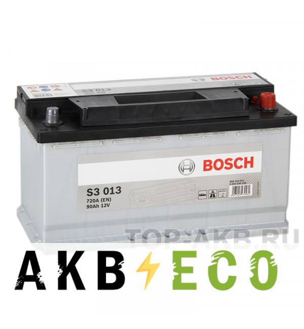 Автомобильный аккумулятор Bosch S3 013 90R 720A 353x175x190