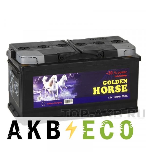 Автомобильный аккумулятор Golden Horse 100R 850А 353x175x190