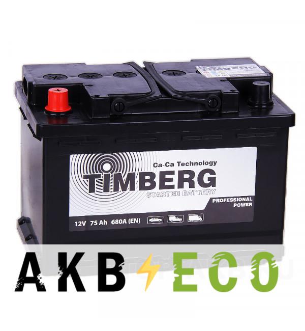 Автомобильный аккумулятор Timberg PRO 75L 680A 278x175x190