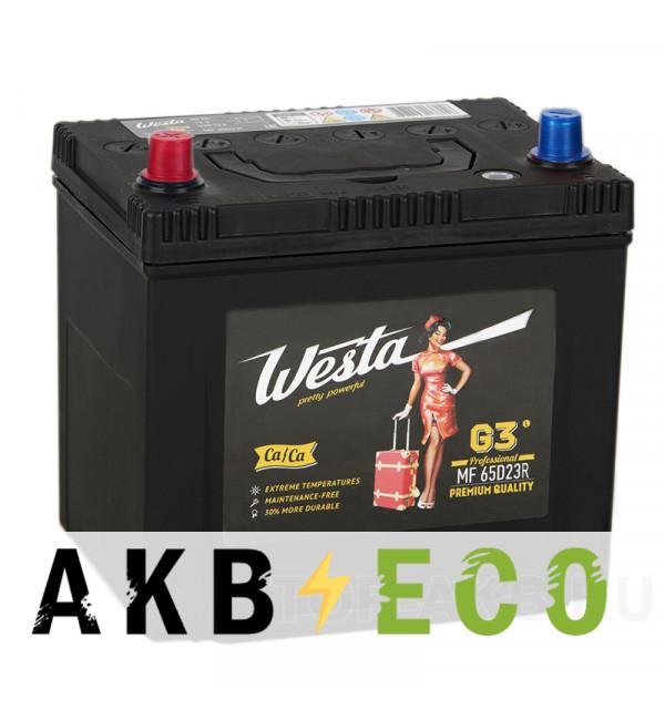 Автомобильный аккумулятор Westa 65D23R (60L 520A 232x173x225)