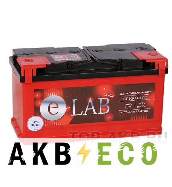 Автомобильный аккумулятор E-LAB 100L 850A (353x175x190)