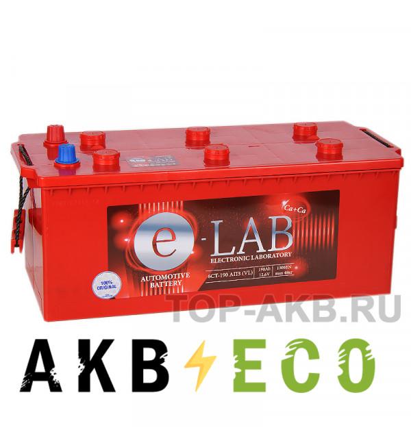 Автомобильный аккумулятор E-LAB 190 евро 1300A (513x223x223)
