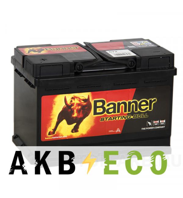 Автомобильный аккумулятор Banner Starting Bull (572 33) 72L 650A 278x175x190
