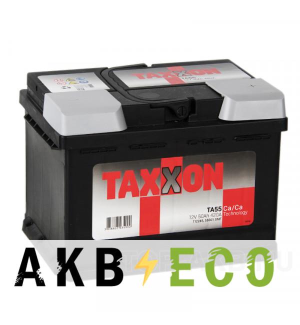 Автомобильный аккумулятор Taxxon 50R низкий 420A (242x175x175) 112050, 54401