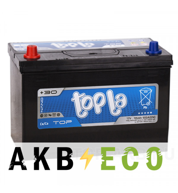 Автомобильный аккумулятор Topla Top JIS 105D31R (105L 900А 301x175x220) 118305 60519