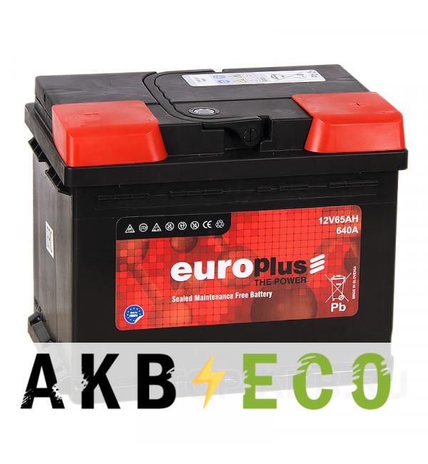 Автомобильный аккумулятор Europlus 65R 640A (242x175x190) 111065