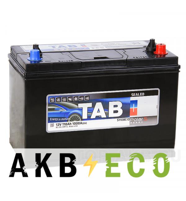 Автомобильный аккумулятор Tab Polar S 110BCID конус и резьба 110R (1000А 330x173x237) 246610 BCI 31S SMF-D