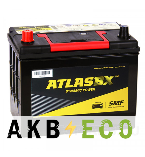 Автомобильный аккумулятор Atlas Dynamic Power MF90D26R (72L 630A 262x175x226)