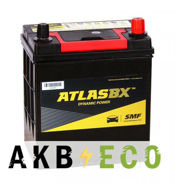 Автомобильный аккумулятор Atlas Dynamic Power MF42B19FL узкие кл. (38R с бортиком 370A 187x136x220)