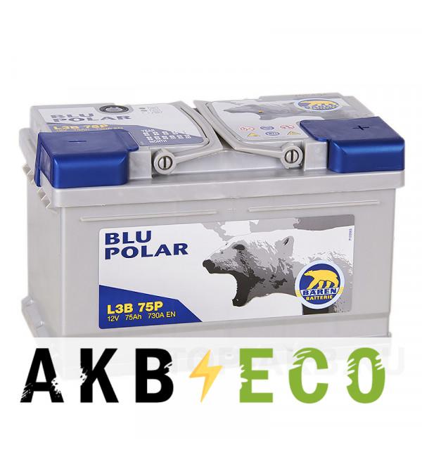 Автомобильный аккумулятор Baren Polar Blu 75R 730A 278x175x175 (L3B75P)