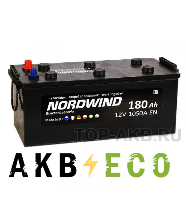 Автомобильный аккумулятор Nordwind 180 евро 1050А 513x223x223