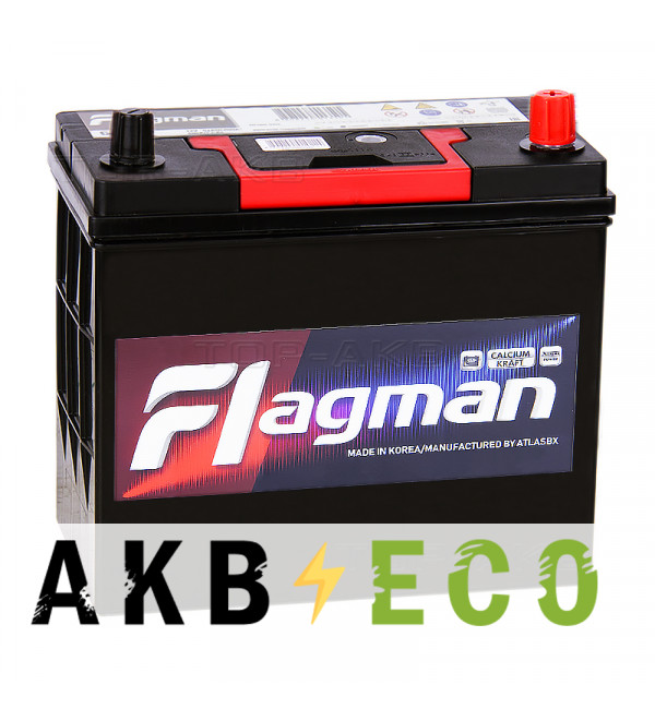 Автомобильный аккумулятор Flagman 65B24L 52R 480A 232x127x220