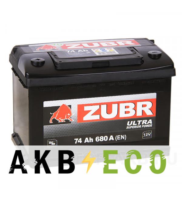 Автомобильный аккумулятор ZUBR Ultra 74L 710A (278x175x175) низкий