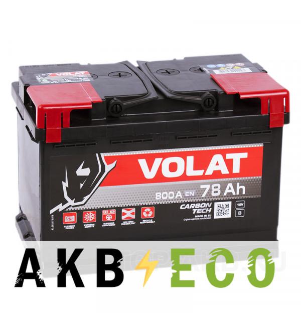 Автомобильный аккумулятор Volat 78R (800A 278x175x190)
