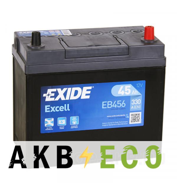 Автомобильный аккумулятор Exide Excell 45R (300A 238x129x227) EB456 уз.кл.