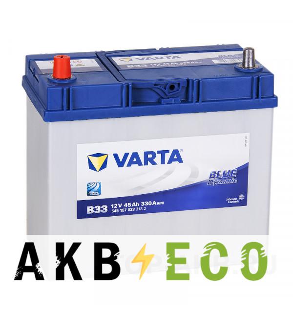Автомобильный аккумулятор Varta Blue Dynamic B33 45L 330A 238x129x227 уз. кл.