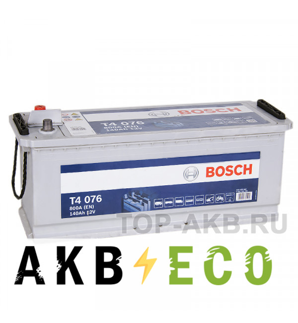 Автомобильный аккумулятор Bosch T4 076 140 евро 800A 513x189x223 нижнее крепл.