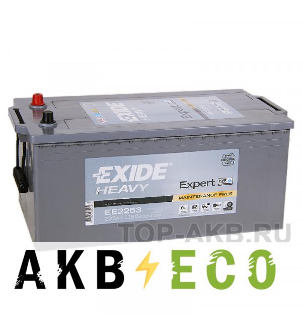 Автомобильный аккумулятор Exide Heavy Expert 225 А·ч евро 1150А (518x276x242) EE2253