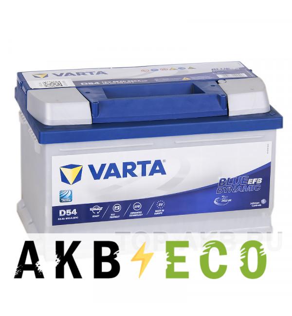 Автомобильный аккумулятор Varta Blue Dynamic D54 (65R 650A 278x175x175) EFB Start-Stop