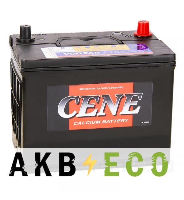 Автомобильный аккумулятор Cene 90D26R (80L 680A 260x173x225)