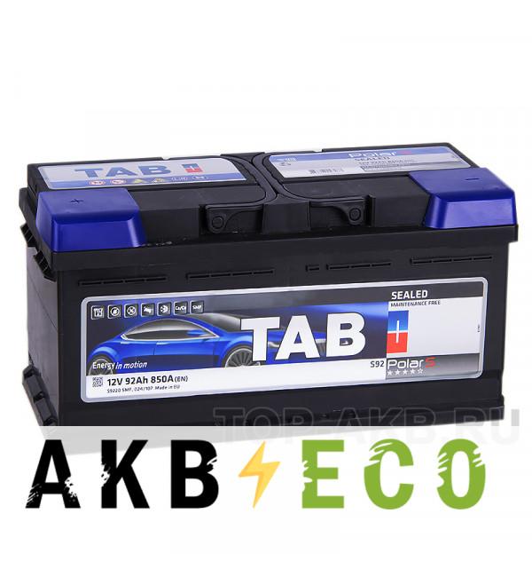 Автомобильный аккумулятор Tab Polar S 92L низкий (800A 353x175x175) 246192 546192