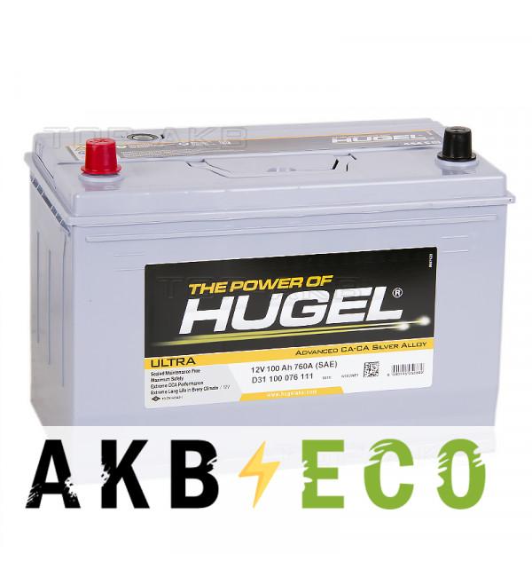 Автомобильный аккумулятор Hugel Ultra Asia 100L 760A (306x173x225) D31 100 076 111