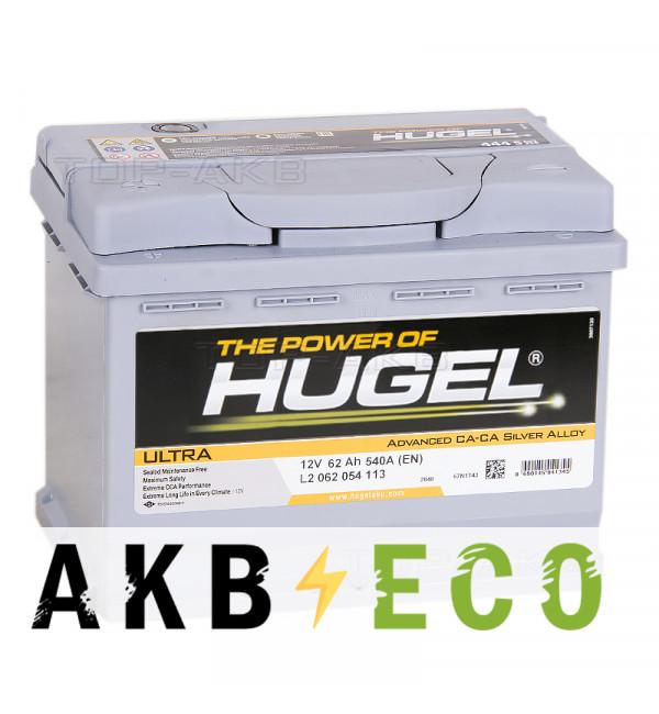 Автомобильный аккумулятор Hugel Ultra 62L 540A (242x175x190) L2 062 054 113
