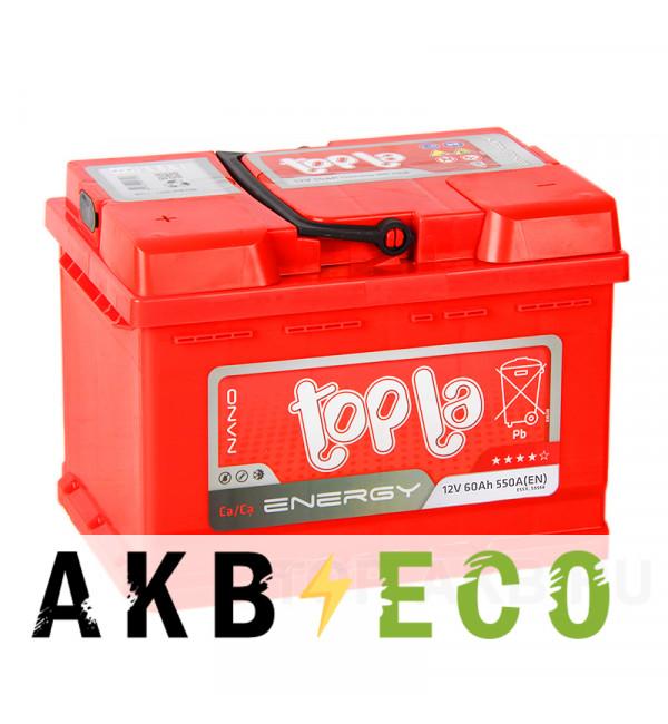 Автомобильный аккумулятор Topla Energy 60L (550A 242x175x175) 108155 55558