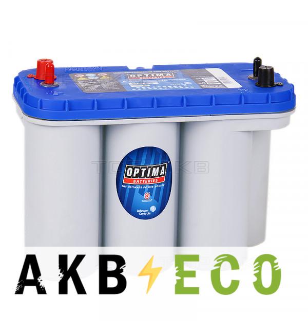 Автомобильный аккумулятор OPTIMA Blue Top 75 Ач 975А (325x165x238) BT DC 5.5 - 8052-188 - 4 клеммы