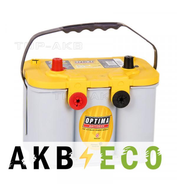 Автомобильный аккумулятор OPTIMA Yellow Top 55 Ач 765А (254x175x200) YT U 4.2 - 8014-254 - 4 клеммы