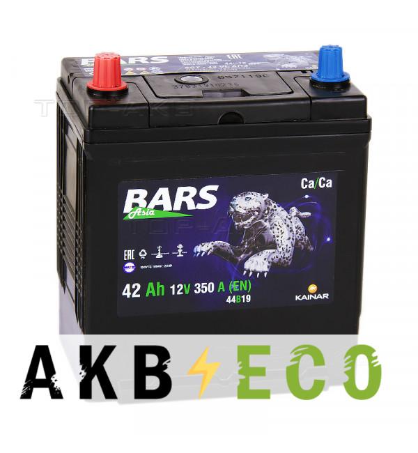 Автомобильный аккумулятор Bars Asia 42L 350A (187x127x227)